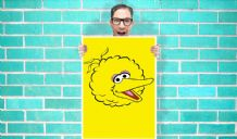 Big Bird Sesame Street Art - Wall Art Print / Poster   - Kids Children Bedroom Geekery